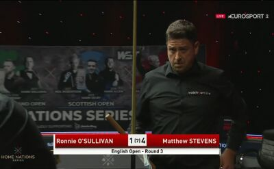 Stevens pokonał O'Sullivana w 3. rundzie English Open