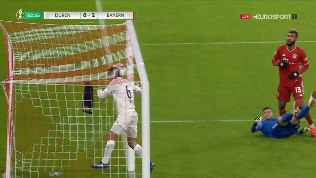 Choupo-Moting powinien mieć drugiego gola? Kontrowersja z meczu FC Dueren - Bayern