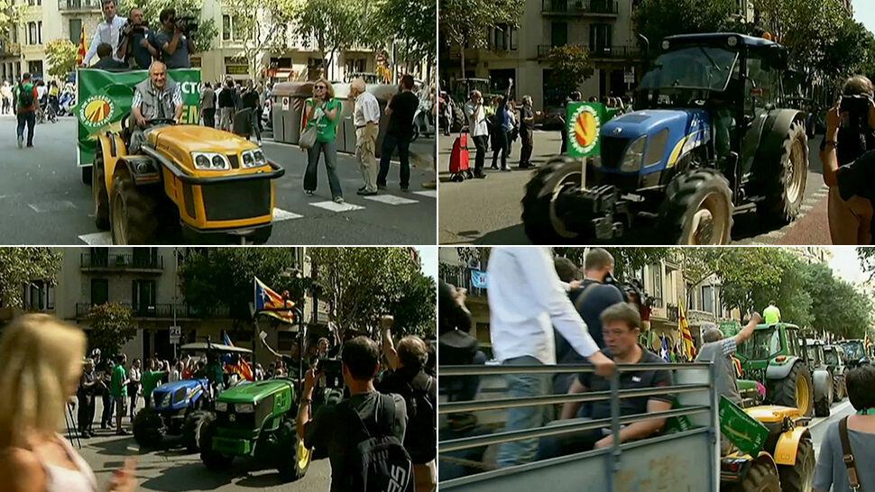 Do Barcelony wjechały traktory. Mobilizacja przed referendum