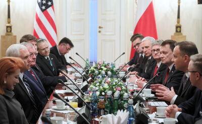 Rozmowy delegacji pod przewodnictwem prezydenta Polski i wiceprezydenta USA w Belwederze