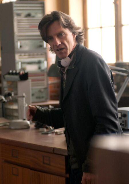 Reżyser James Marsh na planie filmu