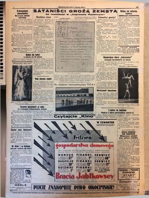 """""""Express Poranny"""" z 8 września 1930 r."""