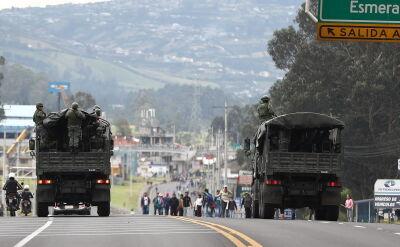 Setki aresztowanych na skutek ogólnokrajowych protestów w Ekwadorze