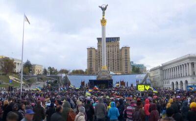 10 tysięcy osób protestowało w Kijowie w obawie przed kapitulacją przed Rosją
