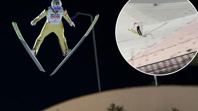 """""""Ależ huknął!"""". Tak Norweg leciał po rekord skoczni w Lahti"""