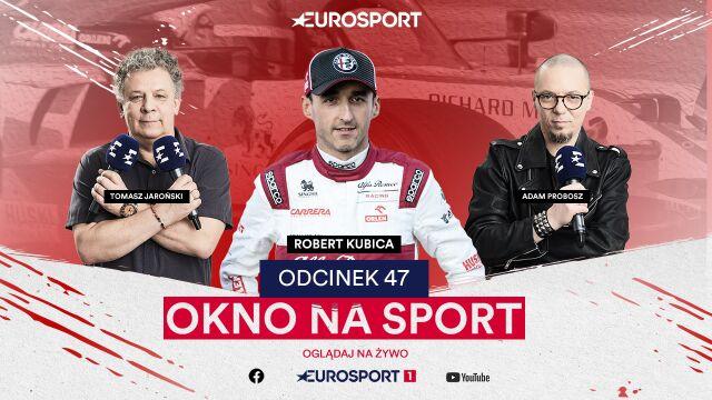 """Robert Kubica jest teraz w """"Oknie na sport"""". Trwa transmisja!"""