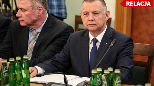 Marian Banaś na posiedzeniu sejmowej komisji. Odczytał oświadczenie