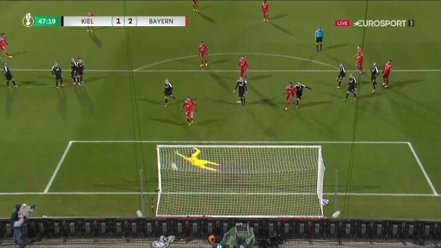 Puchar Niemiec. Holstein Kiel - Bayern 1:2. Gol Leroy Sane