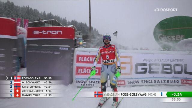 Foss-Solevaag liderem po 1. przejeździe slalomu we Flachau