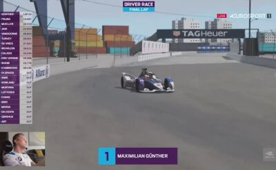 Guenther wygrał drugi wyścig Formuła E Race At Home Challenge
