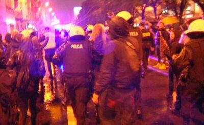 Niespokojna noc w Poznaniu. Zatrzymania po Czarnym Proteście