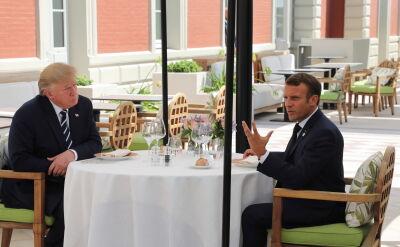Macron i Trump w Biarritz przed szczytem G7