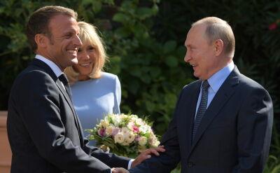 Spotkanie Macrona i Putina na Lazurowym Wybrzeżu