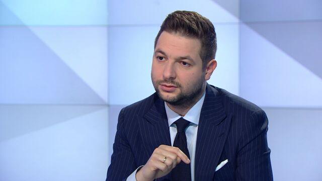 """Wiceminister sprawiedliwości Patryk Jaki w """"Rozmowie Piaseckiego"""" w TVN24"""