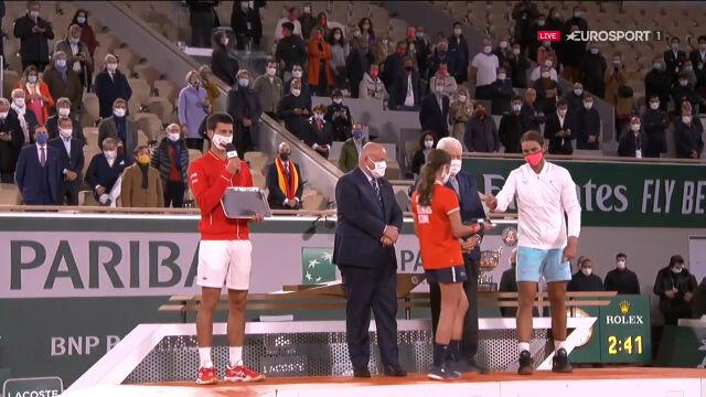Djoković po przegranej w finale Roland Garros 2020
