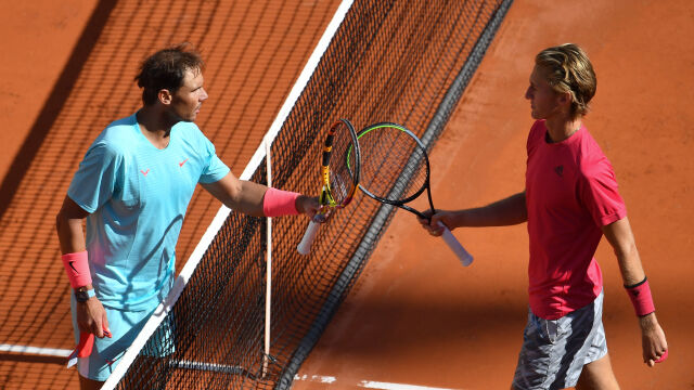 Po meczu wziął autograf od Nadala. Ale nie był to zwykły kibic