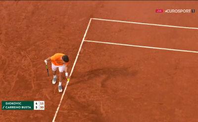 Carreno-Busta wygrał 1. seta w starciu z Djokoviciem w ćwierćfinale Roland Garros