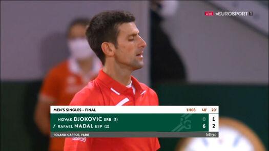 Djoković przełamany w drugim secie finału Roland Garros