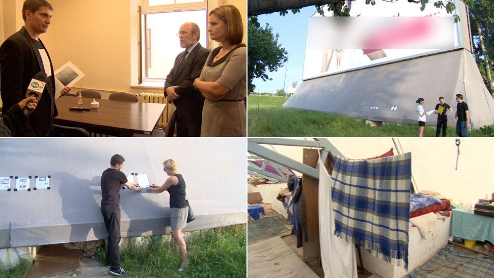 Bezdomni mieszkają w billboardzie, właściciel chce ich wyrzucić. Internauci proszą o pomoc prezydenta