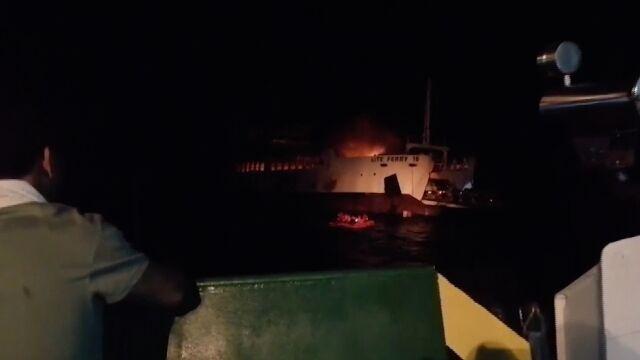 Prom stanąłw płomieniach, ludzie skakali do wody. Są ofiary