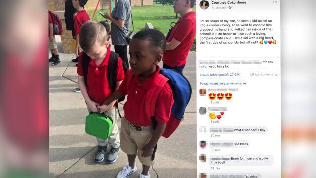 Ważny gest pierwszego dnia szkoły.