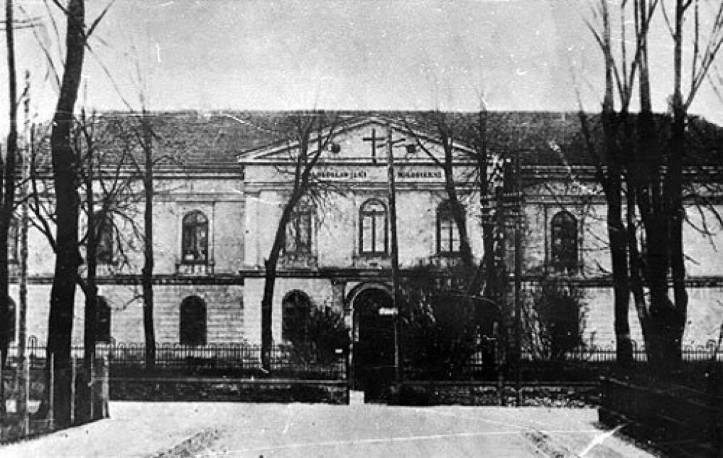 Budynek Szpitala Wszystkich Świętych w Wieluniu, przed zbombardowaniem go przez lotnictwo hitlerowskie w dniu 1 września 1939