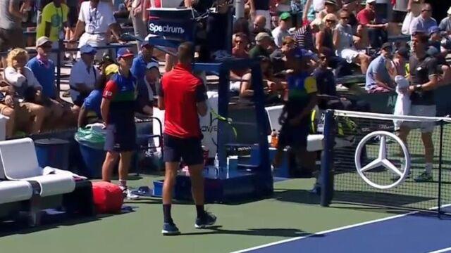 Nie podał ręki ani rywalowi, ani sędziemu. Niezdrowe emocje na US Open