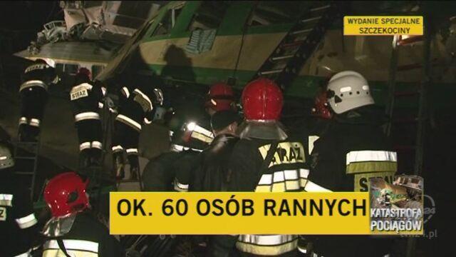 Rzecznik PKP Intercity z miejsca katastrofy (TVN24)