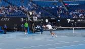 Świetna akcja z 1. seta meczu Djoković - Karacew w półfinale Australian Open
