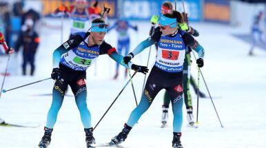 Francuscy biathloniści ze złotem. Odległe miejsce Polaków w sztafecie mieszanej