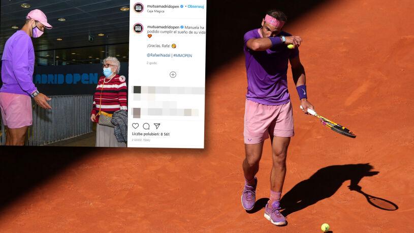 """Chciała spotkać Nadala zanim zapomni tenis. Udało się. """"Traktowałam go jak syna"""""""