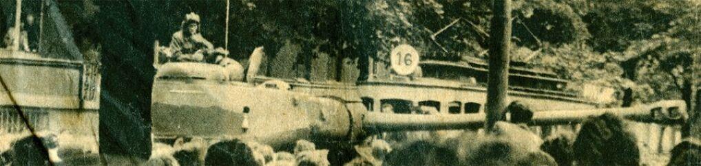 fotografia z biuletynu informacyjnego nr 7 Wolna Europa wrzesień 1956