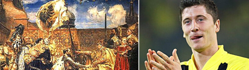 "Tusk maluje nowy ""Hołd pruski"". Królem Lewandowski"