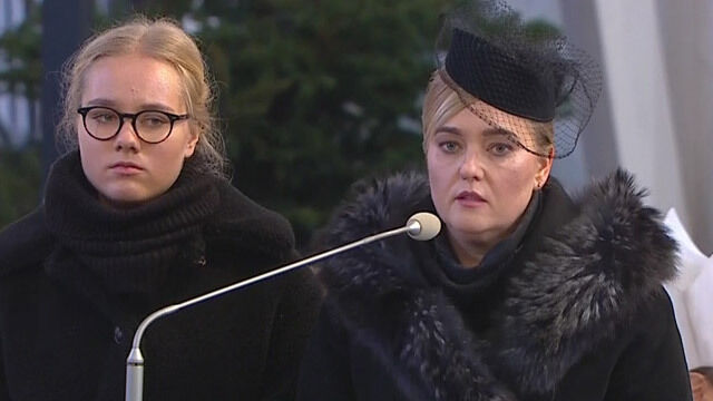 Przemowa wdowy po prezydencie Gdańska