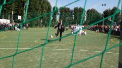 Prezydent Gdańska na twarciu boiska w ramach Programu Budowy Boisk Junior Gdańsk 2012