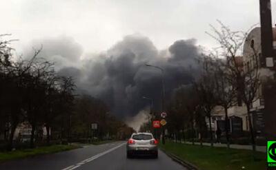 """""""Nagle zrobiło się czarno"""". Pożar i ogromne kłęby dymu"""