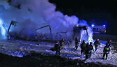 Zderzyło się pięć samochodów, wybuchł pożar. Dwie osoby nie żyją