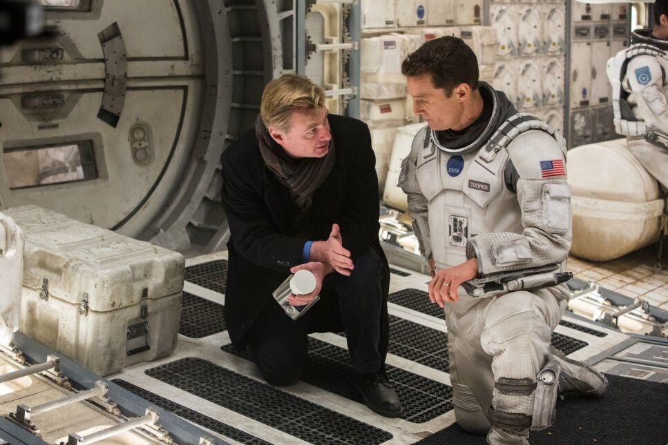 "Christopher Nolan i Matthew McConaughey na planie ""Interstellar"""