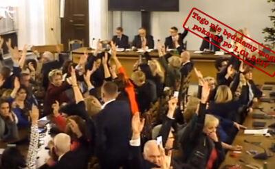 Sejm uchwalił budżet w Sali Kolumnowej