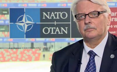 Wywiad z Witoldem Waszczykowskim podczas szczytu NATO w Warszawie