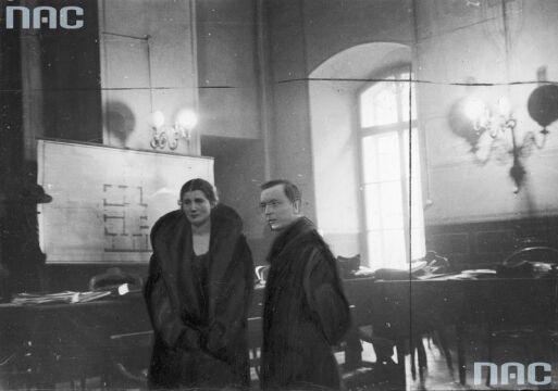 Oskarżona Rita Gorgonowa ze swoim obrońcą adwokatem Mieczysławem Ettingerem