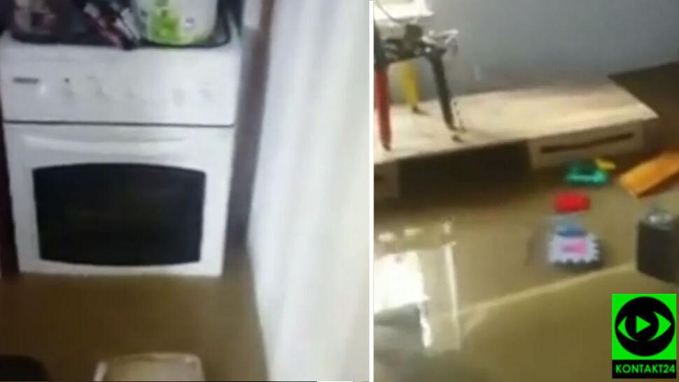 """""""Wstawajcie, zalewa nas"""". Pół metra wody w domu"""