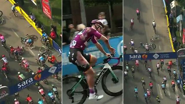 Dramatyczna końcówka 10. etapu Giro, karambol tuż przed metą