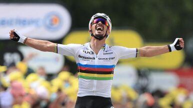 Koncertowy finisz mistrza świata. Alaphilippe pierwszym liderem Tour de France