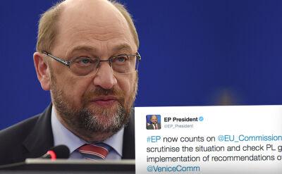 Opinię Komisji Weneckiej skomentowałMartin Schulz