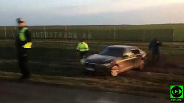 Pękła opona w limuzynie prezydenta Dudy