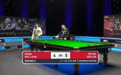 Devlin pokonał Williamsa w drugiej rundzie European Masters