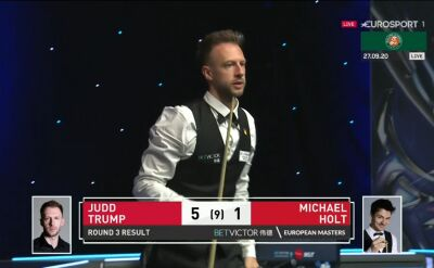 Trump awansował do 4. rundy European Masters