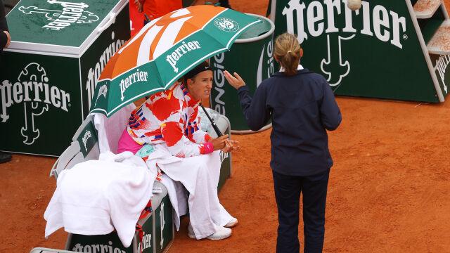 Azarenka odmówiła gry w meczu French Open. Potem opuściła kort bez zgody sędziego