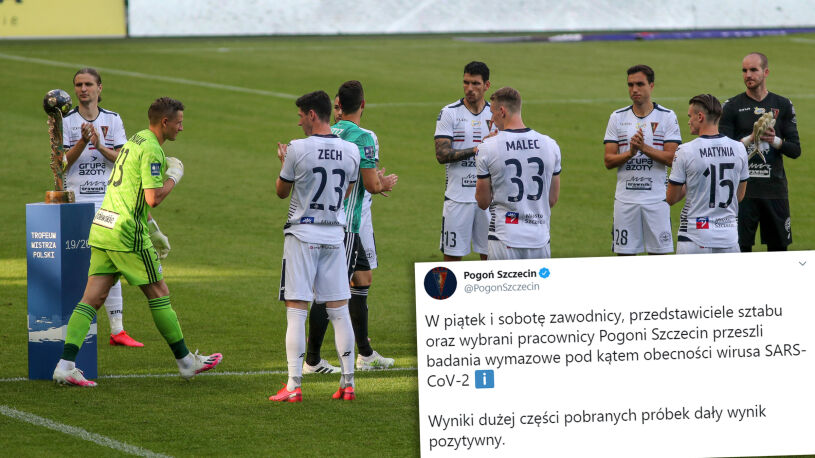 Koronawirus zaatakował Pogoń Szczecin.  Ogromna liczba zakażeń wśród graczy